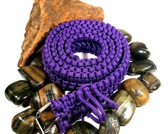 Paracord Adjustable Survival Belt Men's Belt Women's Belt Woven Belt - XS S M L Xl Xxl - Purple