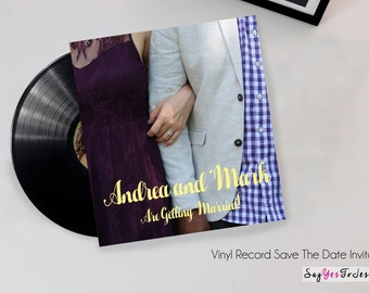 Wedding save the date invitations, Vinyl Record Unique Save The Date Invitation for Wedding or event, Save The Date, Vinyl Record, Unique