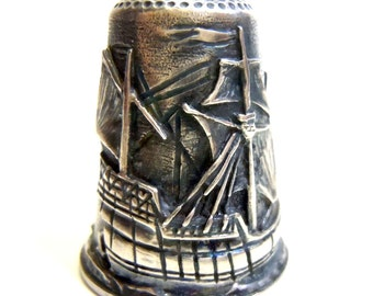 Collectors thimble Columbus Thorvald Greif - special edition in silver (832Fi001)