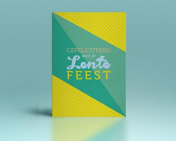 Lentefeest wenskaart // voor meisjes en jongens // enkele kaart inclusief enveloppe // postkaart // alternatief voor communie