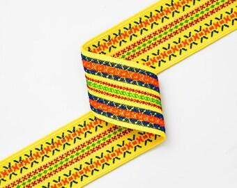 "2"" Elastic Stretch Ribbon Trim for Stretch Elastic Band, headband, hand band and waist belt, 1 yard, TOP-WE014, TOP-WE015"
