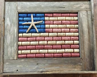 wine cork and starfish flag