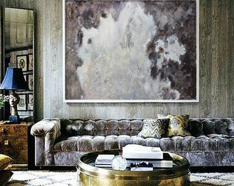 Large Abstract Oil Painting, Contemporary Art, Hand Made Oil Painting, Extra large wall art, Abstract art, black and white large canvas art