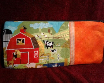 OLD McDONALD farm zip top toy bag