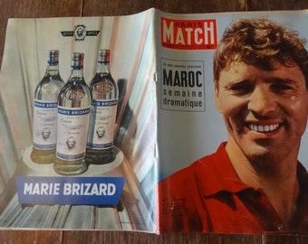 Vintage French Paris Match Magazine No 330 Burt Lancaster Special circa 30 Juil July 1955 / English Shop