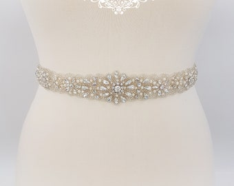 Pearl belt, all around, Bridal belt,  pearl bridal belt, wedding belt, bridal sash, Beaded belt, sash belt, pearl wedding belt, ADELA