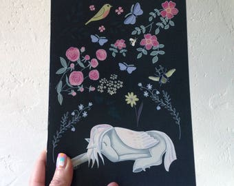 Unicorn, pegasus notebook  - pegasus journal - a5 sketchbook