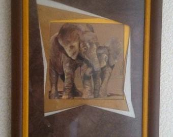 Cute elephant frame