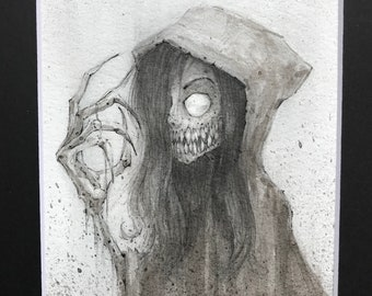 Zombie Girl - original art