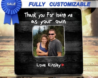 Step Dad Gift Frame Bonus Dad Gift Frame Bonus Dad Fathers Day Stepdad Frame Bonus Dad Birthday Gift Thank You For Raising Me As Your Own