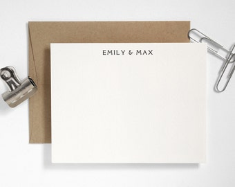 PONTE Letterpress Couples Stationery - Personalized Custom Note Cards - Classic Design - Rialto