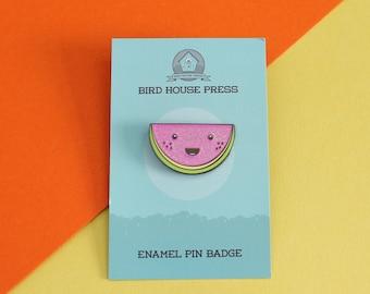 Cute Watermelon Hard Enamel Pin Badge - cute melon pin - lapel pin