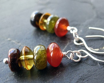 Earrings - Garnet - Citrine - Carnelian - Jade - Avalon