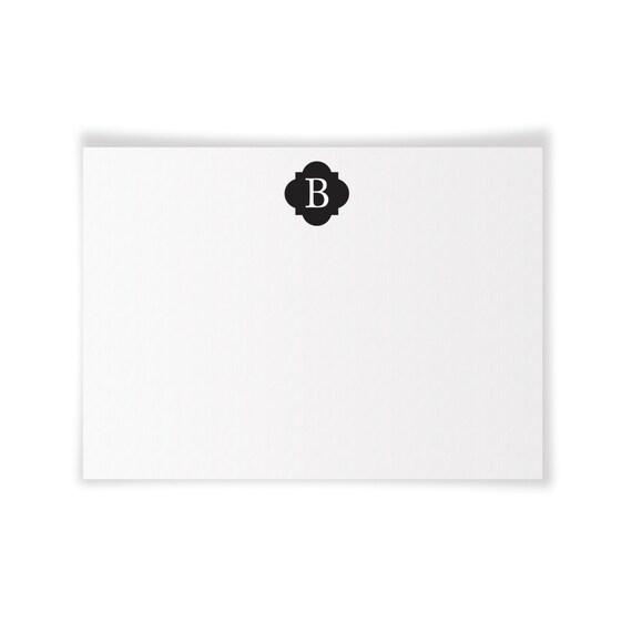 B Monogrammed Printable Notecard