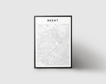 Brent Map Print