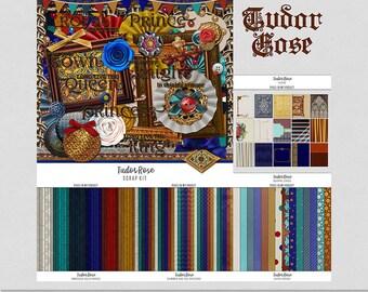 Tudor Rose - Medieval History Inspired [Digital Scrap Bundle]
