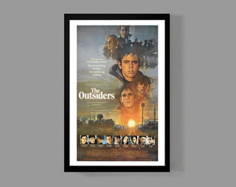 The Outsiders Movie Poster Print - Stay Gold Ponyboy Greasers - Cult Classic Teen Drama Film 80's