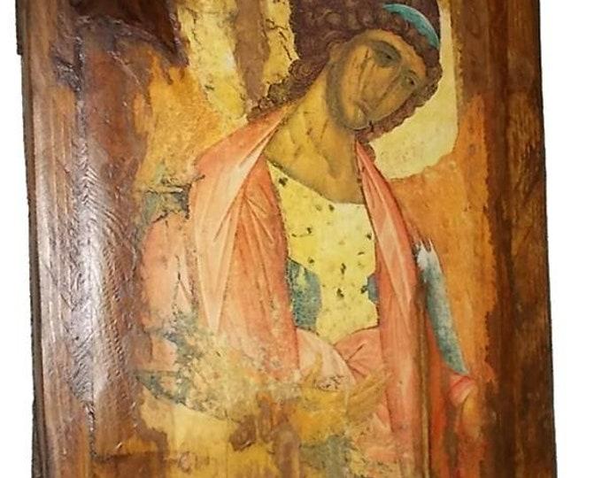 Decoupage christian orthodox,Custom made Orthodox icon,archangel ,Religious icon,Vintage Orthodox icon of archangel ,Byzantine icon