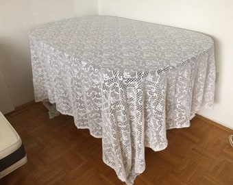 Vintage tablecloth or curtain