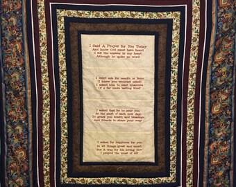 Prayer, Prayer for a Friend, Prayer Quilt,