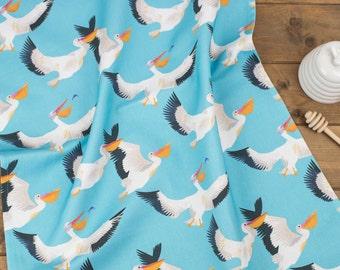 Pelican Party Tea Towel / Kitchen Towel