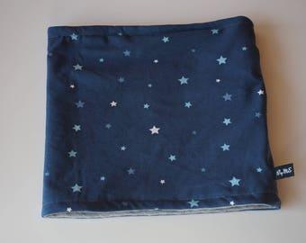 Neck blue Jersey printed star