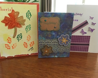 Handmade Thank you and Birthday cards