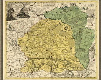 Poster, Many Sizes Available; Map Of Lithuania 1778 In Latin