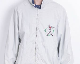 Vintage Marlboro Classics Mens 54 XL Jacket Two-Sided White Blue Cotton Hood