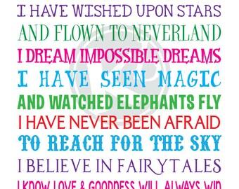 I'm A Disney Kid, 8x10 Digital Print