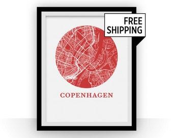 Copenhagen Map Print - City Map Poster