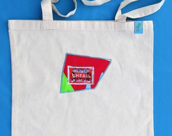 HEAL (red) Tote Bag -Design 2