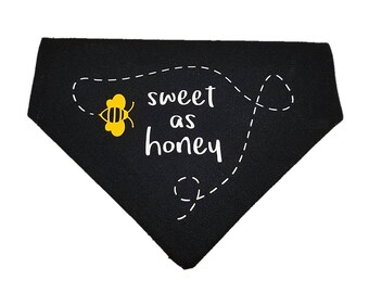 Sweet as Honey bumblebee reversible dog bandana|Summer|Gifts for dogs