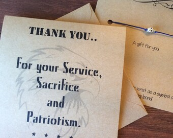 Military Thank You,  Thank You for your service, Patriotism Thank You Gift, Military Gift