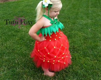 Strawberry Tutu Dress, Strawberry Tutu, Strawberry Costume, Strawberry Birthday, Strawberry Outfit, Halloween costume, food costume