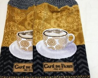 Caf'e DE Paris Print Towel set of 2