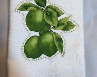 Lime on Soft Hand Towel  18x11~