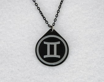 Gemini Charm Zodiac Necklace