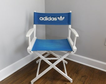 Vintage 1980's ADIDAS Telescope Director's Chair, Folding Camping Chair, Sports, Adidas Logo Chair