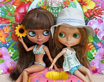 Patterns and English Instructions of Summer outfits set for Blythe