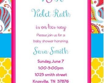 Paisley Baby Shower Invitation