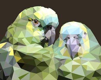 Low Poly Parrots