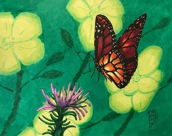 Butterfly 1: 8X10 Original Art