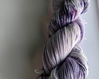 Yarn, Hand dyed yarn, Speckled Yarn, Superwash Merino/Nylon,Sock Yarn, Knitting Yarn, Crochet Yarn - Nebula