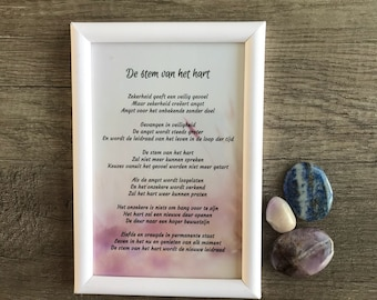 """Framed poem """"The Voice of the Heart"""""""