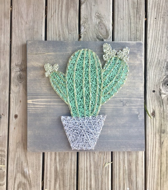 string art cactus gifts for her succulent gift her cactus. Black Bedroom Furniture Sets. Home Design Ideas