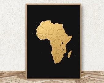 Africa Map Art - African Print African Decor African Wall Art Black Power Poster African American Art Map of Africa Print African Wall Decor & African american art | Etsy