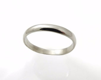 Sterling Silver Wedding Band. Sterling silver wedding ring. 3 mm wedding band. Woman wedding band. Men wedding band. Wedding band.(2077)