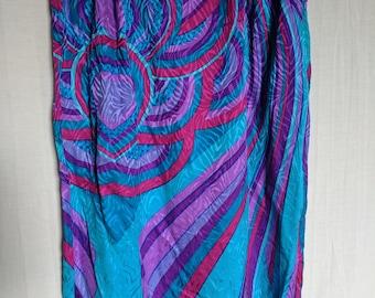 High Waisted Vibrant Zebra Skirt