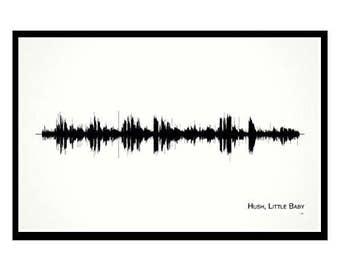 Hush Little Baby - Professionally Framed 11x17 Soundwave